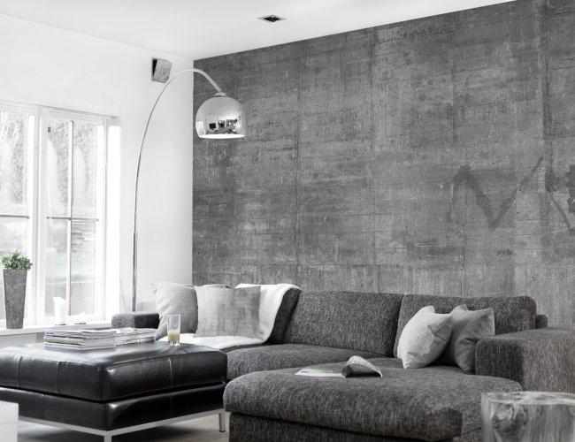 Behang idee woonkamer beste inspiratie voor huis ontwerp - Behang effect van materie ...